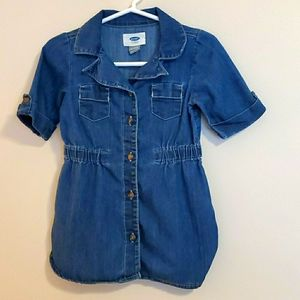 Old navy baby girl jean dress size 18-24m